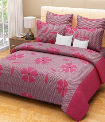 Freshfromloom 150 TC Polyester Double Floral Bedsheet(Pack of 1, Maroon) at flipkart