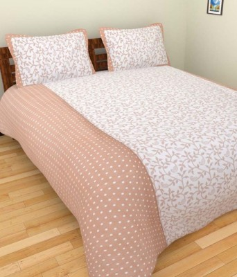 The Divine Cotton Floral Double Bedsheet(The Divine Branded At Lowest Price With Best Quality In Good Fabric Deal Of 100% Cotton Printed Double Bed Bedsheet With 2 Pillow Covers_229CMx229CM, Multicolor)