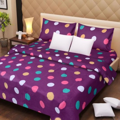 The Divine Polycotton Floral Double Bedsheet(The Divine Branded At Lowest Price With Best Quality In Good Fabric Deal Of Cotton Double Bed Bedsheet With 2 Pillow Covers_229CMx229CM, Multicolor) at flipkart