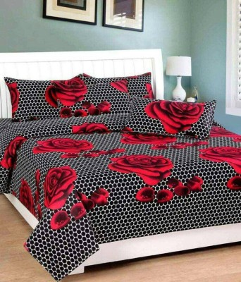 The Divine Cotton Floral Double Bedsheet(The Divine Branded At Lowest Price With Best Quality In Good Fabric Deal Of 100% Original Bajaj Double Bed Bedsheet With 2 Pillow Covers_274CMx229CM, Multicolo at flipkart