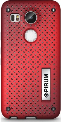 Pirum Back Cover for LG Nexus 5X(Red, Rubber, Plastic)