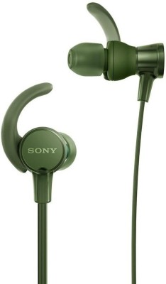 Sony XB510AS Wired Headset with Mic(Green, In the Ear)
