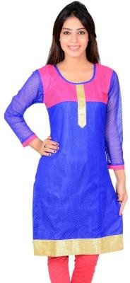 StarShop20 Festive & Party Self Design Girl's Kurti(Pink, Blue)