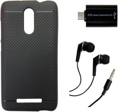 Mocell Case Accessory Combo for Xiaomi Redmi Note 3 Black