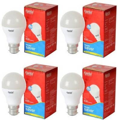 Ajanta 7W B22 630L LED Bulb (White, Pack of 4) Image