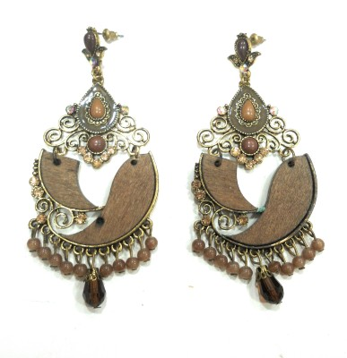 AMARA JEWELLERS WESTERN EARRINGS Brass Drop Earring at flipkart