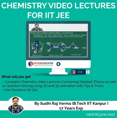 Kaysons Education IIT JEE Chemistry Preparation Material (2019) : Video Lectures for JEE Main and Advance Designed By IITian(Pendrive)