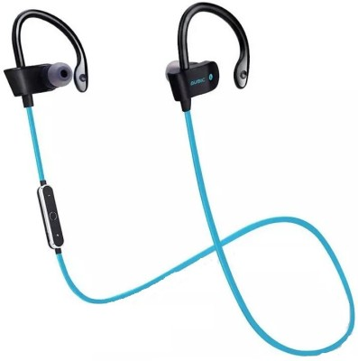 iZED Universall Bluetooth Curved Headphones supports all devices, ultra clear voice, high bass, trebble with 8 m of range. Bluetooth Headset with Mic(Blue, Over the Ear) 1