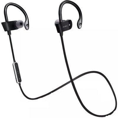 iZED Unniversal Bluetooth Curved Headphones supports all devices, ultra clear voice, high bass, trebble with 8 m of range. Bluetooth Headset with Mic(Black, Over the Ear) 1