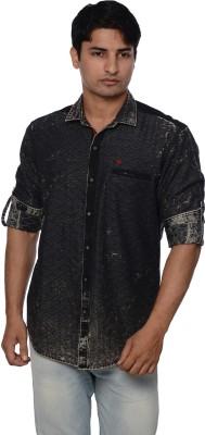 Blue Tonic Men's Printed Casual Button Down Shirt