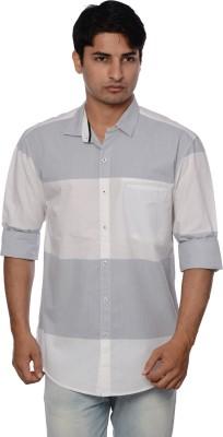 Blue Tonic Men's Striped Casual Multicolor Shirt