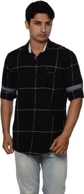 Blue Tonic Men's Checkered Casual Button Down Shirt