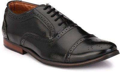 zeboot Classic oxford Lace Up For Men(Black)