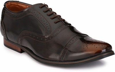 zeboot Classic oxford Lace Up For Men(Brown)