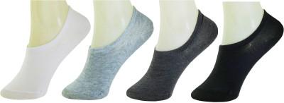 Neska Moda Men & Women Solid No Show Socks(Pack of 4)