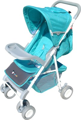 Toyhouse Premium Stroller, Blue Stroller(3, Multicolor)
