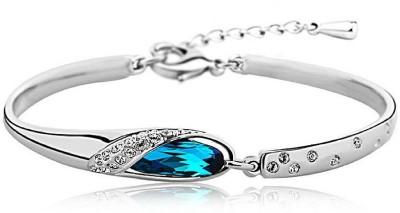 Shining Diva Crystal Crystal 18K White Gold Bracelet at flipkart
