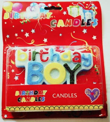 PartyballoonsHK Birthday Boy Candle(Multicolor, Pack of 1)