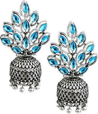 Zaveri Pearls Dark Antique Zinc Jhumki Earring at flipkart