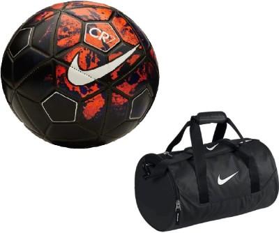 super popular d884a 042cc Retail World RetailWorld CR7 RedBlack Football (Size-5) with Gym Duffle