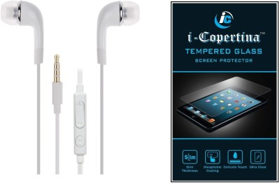 iCopertina Headset Accessory Combo for Samsung Galaxy OnNxt White, Transparent