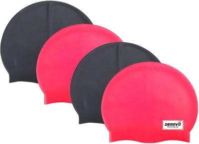 DeNovo Imported  Set of 4  Swimming Cap Multicolor, Pack of 4 DeNovo Swimming Caps