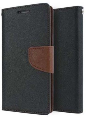 Mercury Flip Cover for Sony Xperia M2(Black, B`rown, Artificial Leather)