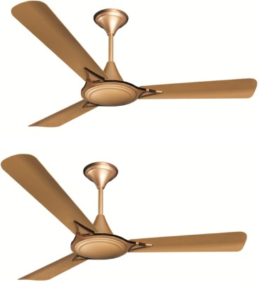 Crompton Avancer Prime Anti Dust Pack of 2 3 Blade Ceiling Fan(Coco Gold, Pack of 2)