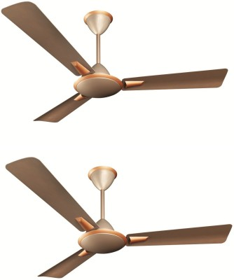 Crompton Aura Prime Anti Dust Pack of 2 3 Blade Ceiling Fan(Butter Scotch, Pack of 2) at flipkart