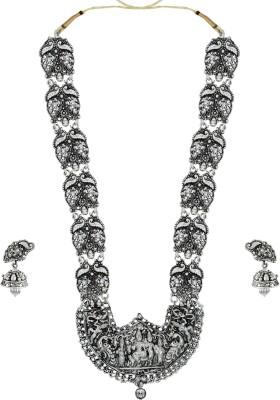 Zaveri Pearls Zinc Jewel Set(Silver) at flipkart