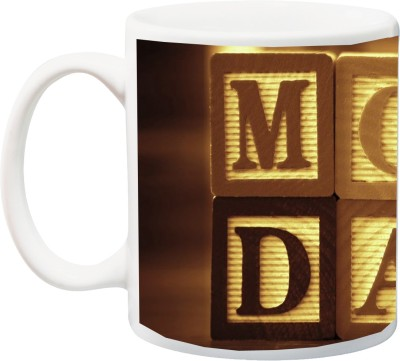 IZOR Gift for Father/Mother/Daddy/Mummy;Special Beautiful Mom & dad 3D Printed Ceramic Mug(325 ml) at flipkart