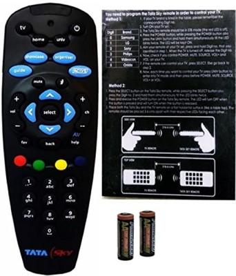 Tata Sky Genuine 100% Original Universal Remote (Read description before purchase) Remote Controller(Black)