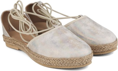 Chemistry Ankle Tie Strap Espadrilles For Women(Gold)