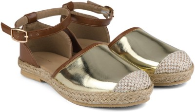 Chemistry Ankle Strap Espadrilles For Women(Gold)