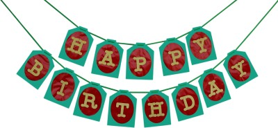 KINGLMINGL HAPPY BIRTHDAY BANNER Banner(11 ft, Pack of 1)