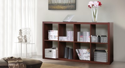 Urban Ladder Boeberg Engineered Wood Open Book Shelf(Finish Color - Dark Walnut)