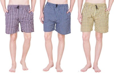 BIS Creations Checkered Men's Boxer(Pack of 3)