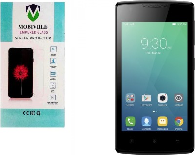 MOBIVIILE Tempered Glass Guard for Lenovo Vibe A Pack of 1 MOBIVIILE Screen Guards