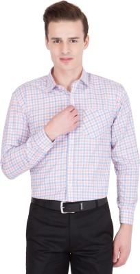 John Hupper Men's Checkered Formal Button Down Shirt