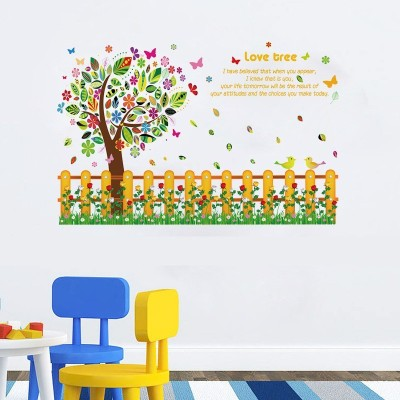 Oren Empower The Love Tree Warm DIY Wall Sticker for bedroom(90 cm X cm 60, Multicolor)  available at flipkart for Rs.349