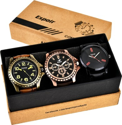 Espoir Combo Cool BLK Super Attractive Arrogant Watch  - For Men