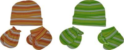 Joymart Joy Mart Unisex Cap (JMA16--0-3 Months, Multicolour, 0-3 Months), 6 Sets of Caps, Mittens & Socks Pack(Multicolor)