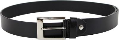 Da Milano Men Casual Black Genuine Leather Belt