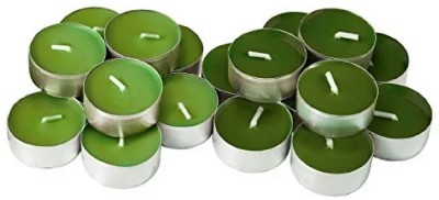 madhulica GTLC 2018 Candle(Green, Pack of 20)
