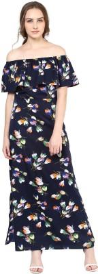 Tokyo Talkies Women Maxi Dark Blue Dress