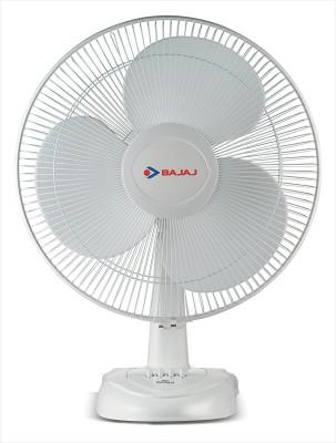 Bajaj Esteem Table Fan 400 mm 3 Blade Table Fan(White)