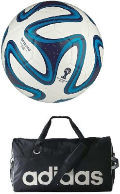 Retail World Brazuca Blue Football Size 5 with Gym Duffle Bag Football Kit  Best Price in India  babad9015287f