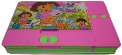 Highlight Jumbo Cartoon Art Plastic Pencil Box(Set of 1, Pink)