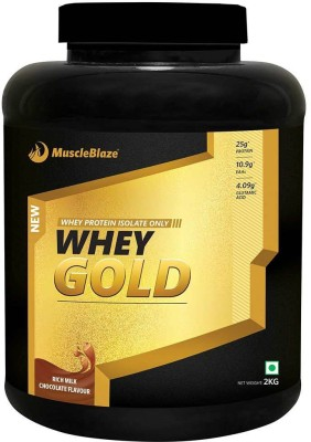 MuscleBlaze Whey Gold Protein (2Kg / 4.4lbs, Chocolate)
