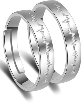 Karatcart Zinc Platinum Plated Ring at flipkart